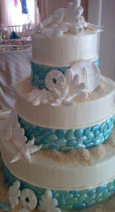 Wedding Cakes Pictures: Beach