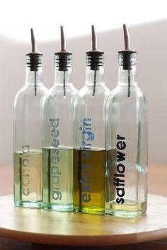 imagine gnats: craft: stencil labeled oil bottles