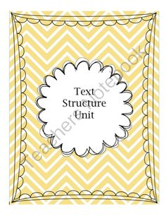 Text Structure Unit! Enter for your chance to win.  Text Structure Unit (20 pages) from Inspire the Love of Learning on TeachersNotebook.com (Ends on on 8-27-2014)  This unit will help your students to understand text structure, which will help comprehension skills!