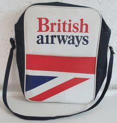 british airways flight bag retro vintage