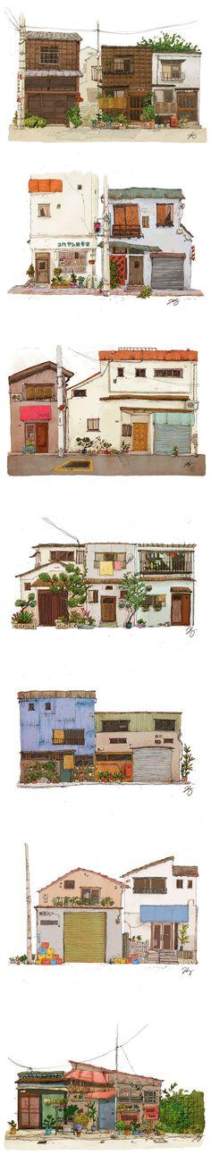 gorgeous house illustrations
