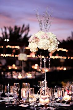 sparkly evening wedding
