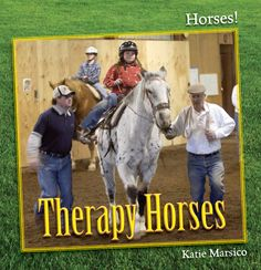 Horses are also trained to be used therapeutically as they are said to help people emotionally.