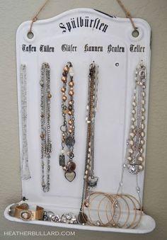 jewelri holder, utensil holder, heather bullard, necklac holder, necklace holder
