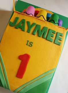 Crayon  Box cake (could be an entire party theme for any age!)