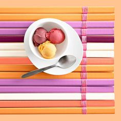 DIY Color Striped Wooden Placemat