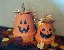 Terra Cotta Pot  Pumpkins