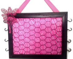 Upcycled frame wire Hot pink princess by CreativeDesignsUpcyc, $30.00