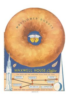 Mayflower Donuts 1939 Menu Cover  1939 World's Fair