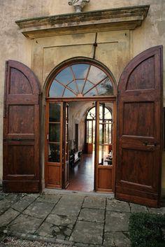 Firenze la Villa di Lilliano, Il corridoio per il giardino d'inverno