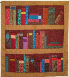 Library quilt! Love it!