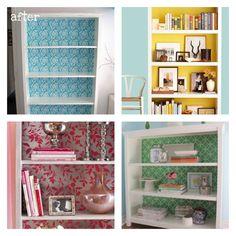 Wallpaper bookcases!