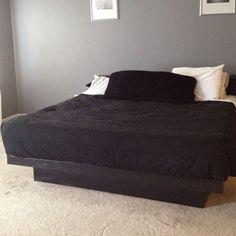 Finished Platform bed we built