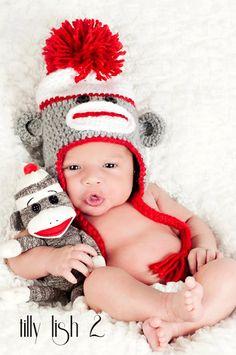 Etsy listing at https://www.etsy.com/listing/105369176/sock-monkey-baby-hat-toddler-sock-monkey