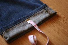 How To: Hem Jeans by Hand - Alyssa B. Young - In the Wabe