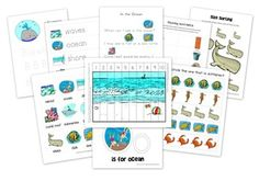 Mommy Made Printables: Ocean Theme  (Links to all free printables) ocean theme prek, homeschool creation, preschool printables, free ocean math printables, ocean unit, ocean preschool, ocean themes, ocean prek theme, ocean printables preschool