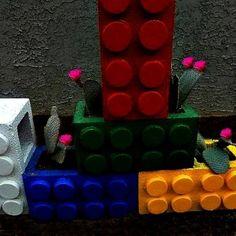 craft, lego planter, color lego, garden