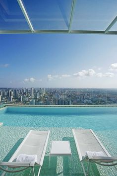 Escape the mundane high above the city! #poolsideperfection #breakaway