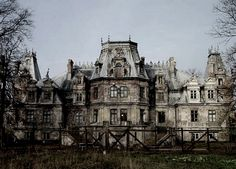 Haunted derelict palace in Poland.