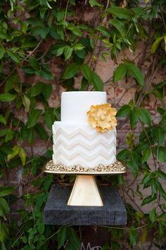 #chevron bridal shower #cake