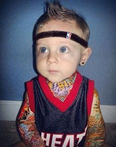 "Behold: ""#Baby Birdman"" #sports #kids #tattoos #lol #basketball"