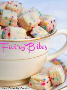 Fairy Bites - A Sweet Little Treat. This recipe has only 5 ingredients and is easy to make, but it calls for nonpareils. What are a nonpareils I asked myself? Once I found out that is a fancy name for sprinkles, I knew I had to made this recipe and tell all my guests, it was made with nonpareils to really impress them with my culinary knowledge! :)