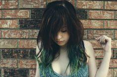 ombre, galleries, style hair, skinhair care, hair style, green hair