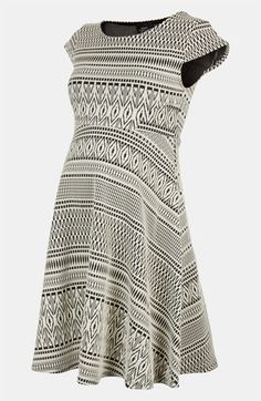 I'm pretty sure we're not having another baby, but if we were, I'd wear this dress the whole time I was pregnant.    Topshop Maternity 'Aztec' Jacquard Dress | Nordstrom