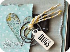 Pickled Paper Designs, love how Amy did the twine on the clip..good idea..