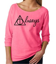 I want this. I, Haley Grayson, want this. Yellow, if possible.   Harry Potter Womans Sweatshirt. Harry Potter Always by OlympicInk, $32.00