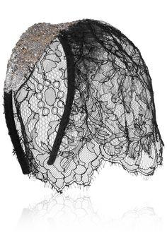 veil headband, lace veil