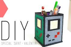DIY Gameboy Pencil Holder hama beads | By Isnata