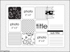 December Page Maps sketch design, squar, scrapbook layouts, 2011 pagemap