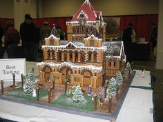 Gingerbread Church Front by esmereldes, via Flickr