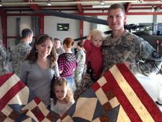 "Quilts of Valor: A ""Quilt of Valor"" Home Coming celebration quiltof valor, militari quilt, quilt idea, patriot quilt"