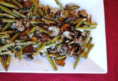 Balsamic Roasted Green Beans and Mushrooms   Neighborfood