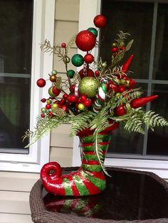 Santa elf centerpiece by WreathsEtc on Etsy, $68.00