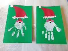 Santa hand prints!