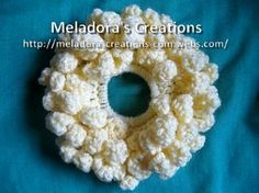 Flower Petal Scrunchie - Meladora's Creations Free Crochet Patterns & Tutorials
