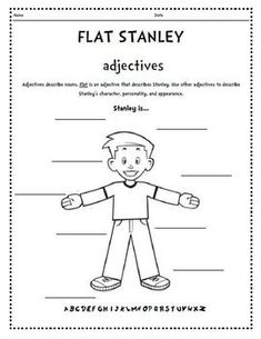 Flat Stanley Adjectives Acrostic Bookmarks Bingo