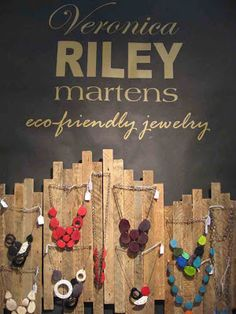 Veronica Riley Martens' jewelry display