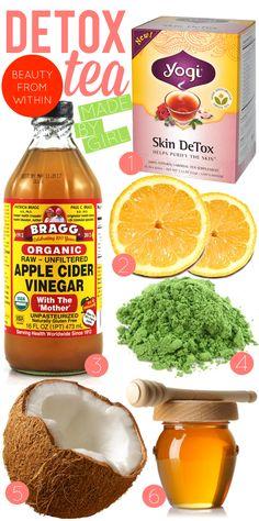 Health must haves: Yogi Detox Tea // Lemons // Bragg Organic Apple Cider Vinegar // Green Tea // Coconut // Honey