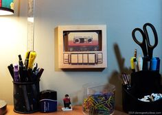 Guardians Of The Galaxy Cassette Papercraft - printable awesome tape mix craft