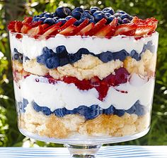 Berry Trifle ...is it Memorial Day yet?????