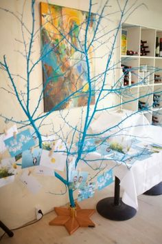 Pot craft 39 s on pinterest 597 pins - White painted tree branches ...