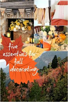 Five fall decorating