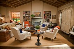"""Jane's living room from the movie """"It's Complicated."""""""