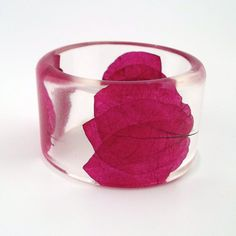 Bougainvillea Resin Bangle  Chunky Bangle by SpottedDogAsheville, $44.00