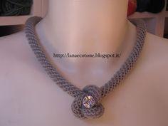 Lana e Cotone (maglia e uncinetto): Collana a spirale