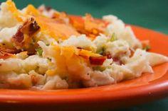 twice-baked cauliflower (low carb!)  #low_carb